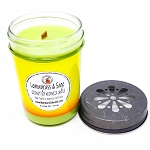 Lemongrass & Sage Scented Woodwick Candle (6oz)