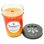Mandarin Scented Woodwick Candle  (6oz)