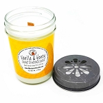 Vanilla & Honey Scented Woodwick Candle (6oz)